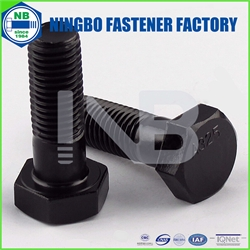 ANSI/ASTM/ASME Heavy Hex Bolt A325 Type 1 Black Half Thread