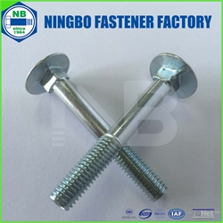 DIN603 Carriage Bolt Grade4.8 M8*60 Cr+3 Blue White Zinc Plated
