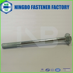 DIN603 Carriage Bolt Grade4.8 M10*130 Cr+3 Blue White Zinc Plated